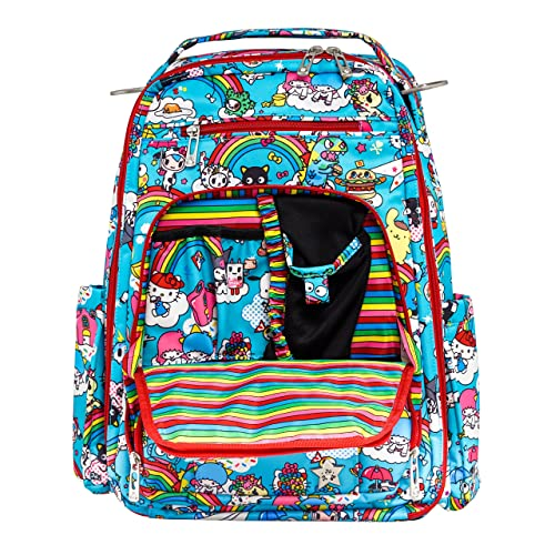 f9897158c JuJuBe Be Right Back Multi-Functional Structured Backpack/Diaper Bag,  Tokidoki Collection -