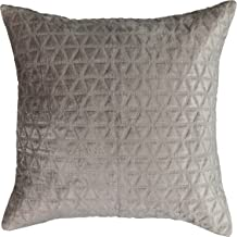 BEAUTYREST Throw Pillow Covers - Social Call Decorative Pillow Cases Euro Sham for Sofa Couch Bedroom Living Room, 26 x 26, Grey