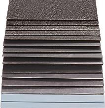 S&R Waterbestendig schuurpapierset, 60 stuks, schuurbladen, schuurpapier, voor droog polijsten en nat polijsten, siliciumc...