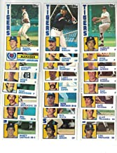 Detroit Tigers/Complete 1984 Topps Detroit Tigers Baseball Master Team Set (37 Cards) with Jack Morris, Alan Trammell, Lou Whitaker and More. World Series Champs!