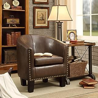 Rosevera C2BN Duilio Club Chair, Brown