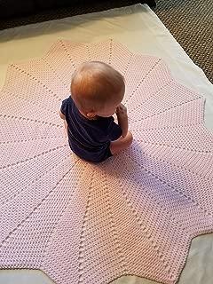 Solid Color Starburst Baby Afghan, Security Blanket, Crochet blanket, Baby Shower Gift, Baby gift, Photo Prop, Nursery blanket, baby, baby girl/boy, gender neutral, newborn, toddler - Made to Order