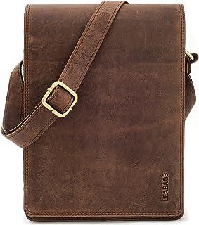 LEABAGS Dover Umhängetasche Schultertasche 10 Zoll Tablets aus echtem Leder im Vintage Look, LxBxH: ca. 20 x 7 x 26 cm