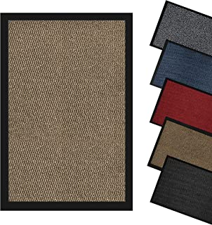 Domats - Dirt Trapper Door Mat for Indoor & Outdoor - Non Slip Mat with Rubber Backed - Washable Rug Mats for Floor & Carp...