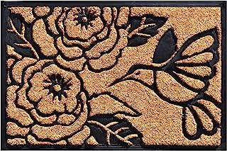 "Calloway Mills 102822436 Hummingbird Haven Doormat, 24"" x 36"", Natural/Black"