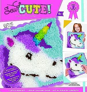 ColorBok 74195 Sew Cute Latch Hook Kit Unicorn, Multi