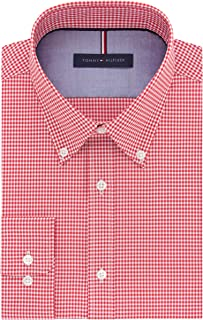 Tommy Hilfiger Men's Non Iron Slim Fit Gingham Buttondown...
