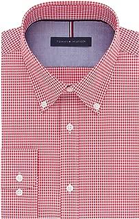 Men's Dress Shirt Slim Fit Non Iron Gingham