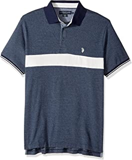 Men's Classic Fit Color Block Short Sleeve Jersey Polo Shirt