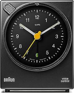 Braun – Despertador clásico con activación por voz BNC004BKBK, color negro