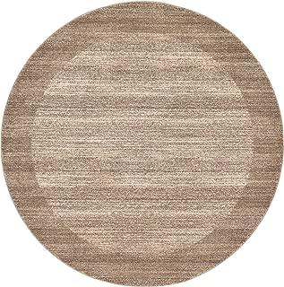 Unique Loom Del Mar Collection Contemporary Transitional Beige Round Rug (8' 0 x 8' 0)