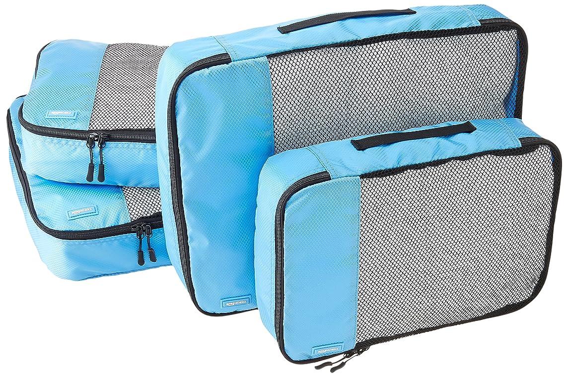 AmazonBasics 4-Piece Packing Cube Set - 2 Medium and 2 Large, Sky Blue