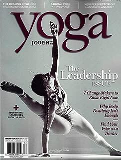 Yoga JOURNAL Magazine February 2019 THE LEADERSHIP ISSUE, MATY EZRATY Cover