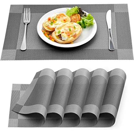 Kitchen Place Mats Dining Table Placemat Heat Insulation Mat Washable FA