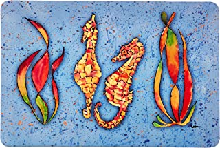 "Caroline's Treasures 8564-JCMT ""Seahorse"" Kitchen or Bath Mat, 60cm by 90cm , Multicolor"