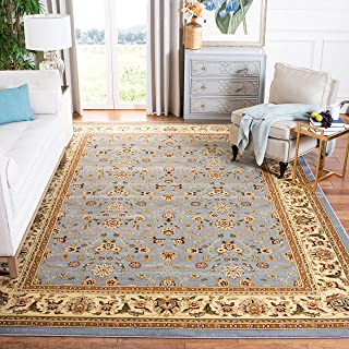 Safavieh Lyndhurst Collection LNH312B Traditional Oriental Light Blue and Ivory Area Rug (12' x 18')