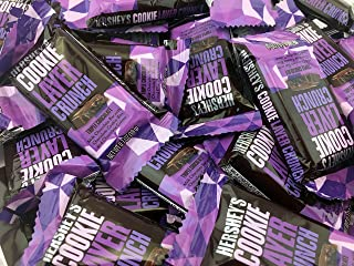 Hershey's Cookie Layer Crunch Triple Chocolate Bar, Snack Size 0.7 Ounces (Pack of 2 Pounds)