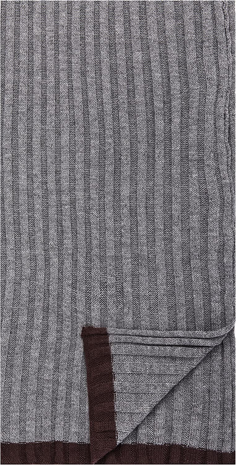 Box Packaged Men's Uptown Premium Knit Texture Ribbed Scarf