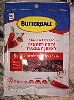 Butterball All Natural Tender Cuts Turkey Jerky Spicy Thai 2 Bags 0.9 ounce