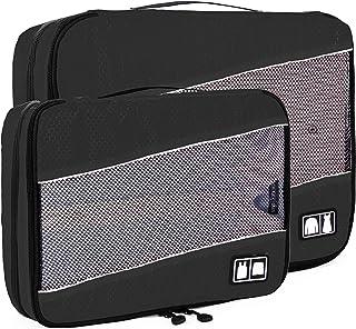(バッグスマート)BAGSMART パッキングオーガナイザー アレンジケース 2点セット トラベルポーチ 2段式 収納 衣類