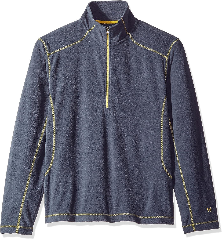 White Sierra BAZ Az 1 4 Zip Fleece Top, Titanium, Large