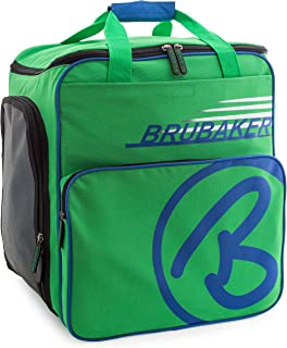 BRUBAKER Winter Sports Boot Bag Super Champion - Limited Edition - Backpack Green Blue
