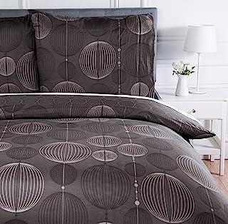 Amazon Basics Parure de lit avec housse de couette en microfibre, 240 x 220 cm, Gris (Industrial Grey)