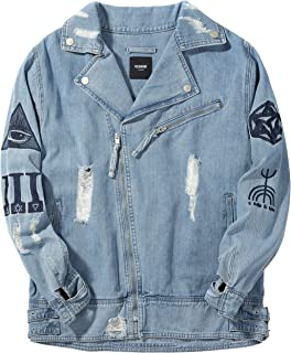 VIISHOW メンズ デニムジャケット カジュアルジャケット スリム ジャケット ジャケット オックスシャツ 無地 通勤 人気 秋 開襟 ブルー