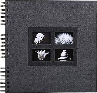 Exacompta - Réf. 16841E - Album Photos à Spirales Passion noir - 360 photos - 60 Pages Noires - Format 32 x 32 cm - Album ...