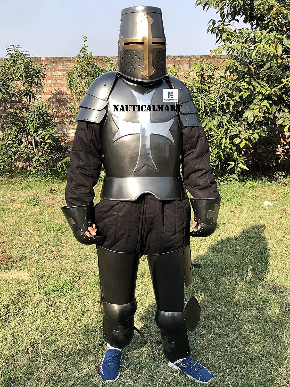 Max 61% OFF A surprise price is realized Nautical-Mart Medieval Wearable Knight Crusader C Armour of Suit