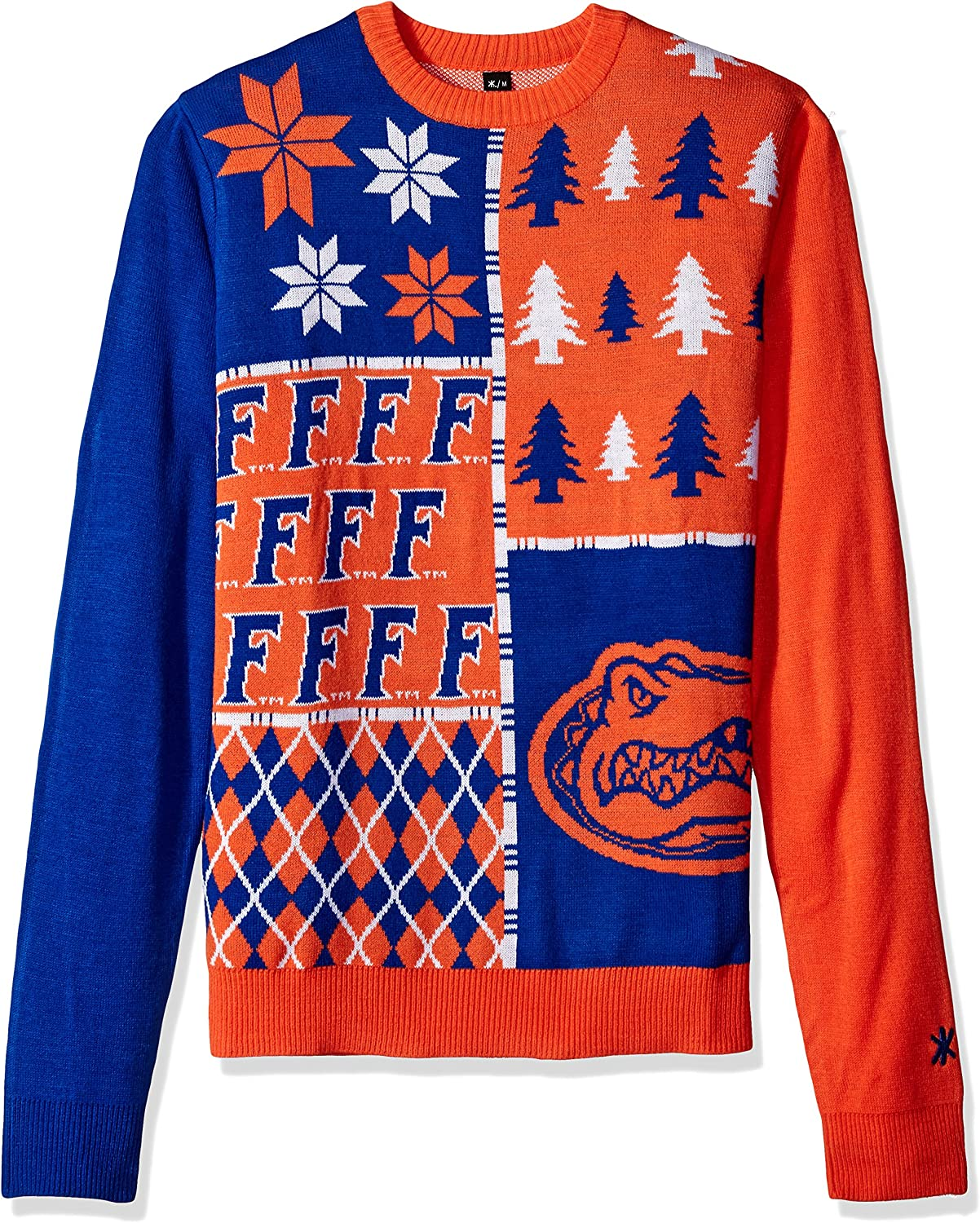 Klew NCAA Busy Block Max 55% OFF Free shipping Large Sweater Florida Gators