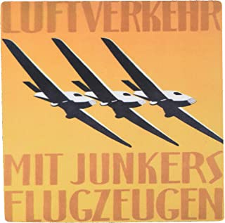 3dRose 8 x 8 x 0.25 Inches German Art Deco Aviation Poster Mouse Pad (mp_155332_1)