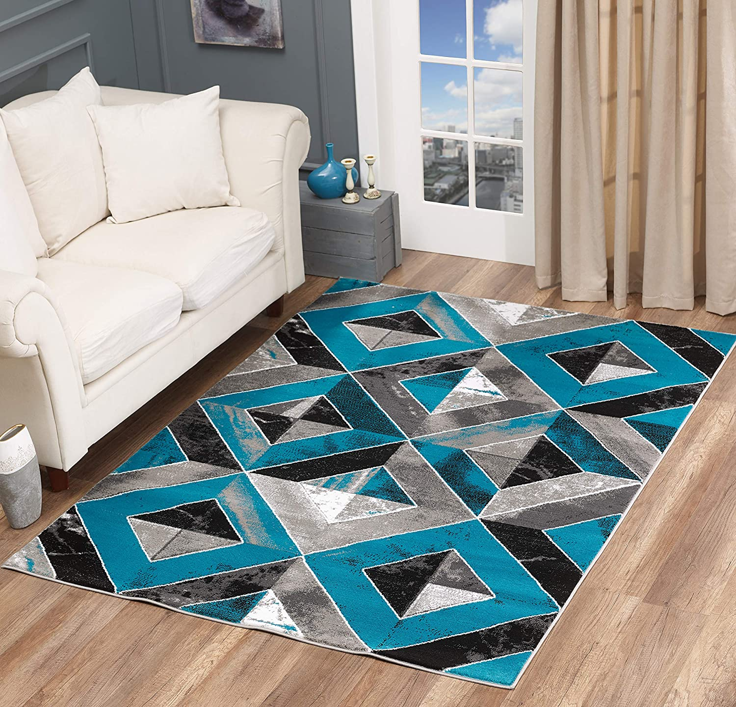 GLORY RUGS Area Rug Manufacturer regenerated product Abstract Ca Diamond Distressed Max 87% OFF Modern