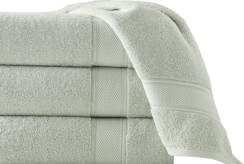 Grund Pinehurst 100% Organic Cotton Luxury Spa Towels, 36-Inches by 72-inches, Sage, Set of 1, Bath Sheet Towel