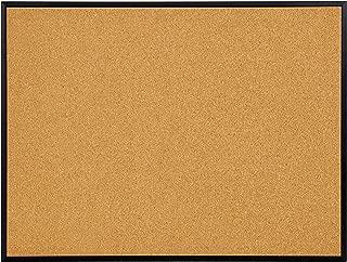 INNOVART Cork Board, Bulletin Board, 48 x 36 Inch, Black Aluminum Frame Corkboard with Push Pins (4'H x 3'W)