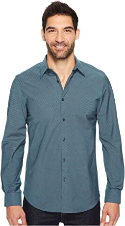 Perry Ellis - Long Sleeve Stripe Shirt