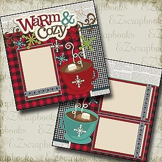 WARM & COZY - Premade Scrapbook Pages - EZ Layout 2161