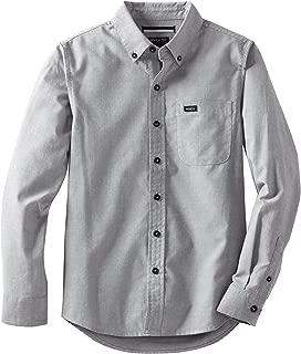 RVCA Boys' That'll Do Oxford Long Sleeve Shirt