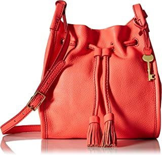 Fossil Claire Small Drawstring Bucket Bag for Women - Orange (ZB7115197)