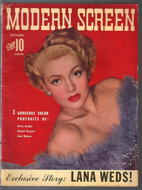 Modern Screen 10 New popularity 1942-Dell-Lana Turner-Bing Reagan Crosby-Ronald OFFer