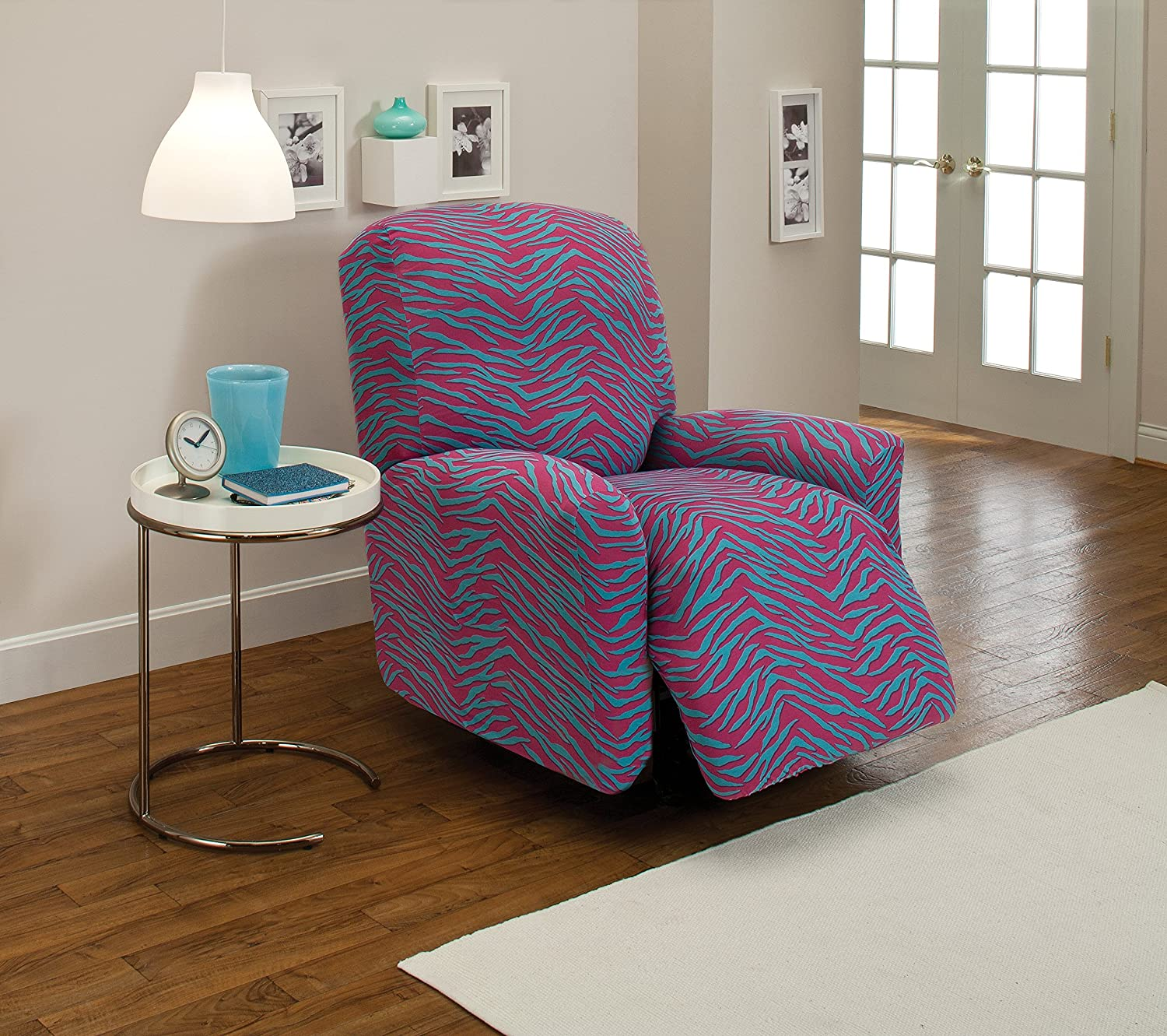 Madison Direct sale of manufacturer OFFicial store Zebra Cover Stretch Jersey Large Slipcover Recliner Ge