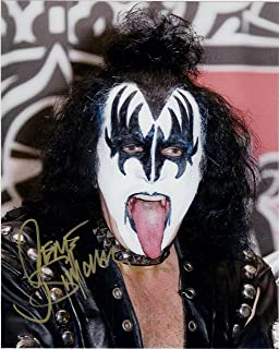 """Gene Simmons, from """"Kiss"""" 8 X 10 Photo Autograph on Glossy Photo Paper"""