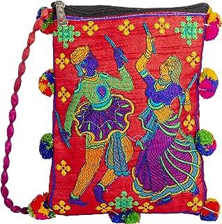 Handmade Designer Embroidered Ladies Purse with Beautiful Dandiya Work Exclusively From Kutch Gujarat