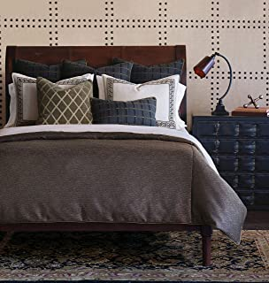 Eastern Accents Irving Luxury Neutral Palette Tailored King 8 Piece Bed Set, Brown