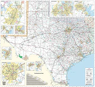 36x48 Texas State Official Executive Laminated Wall Map