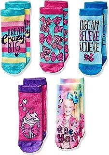Girl's 5 Pack No Show Socks