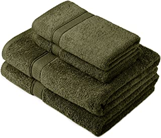 Pinzon by Amazon - Egyptian Cotton Towel Set, 2 Bath and 2 Hand Towels - Moss, 600gsm