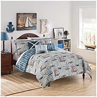 WAVERLY Kids Set Sail Reversible Bedding Collection, Twin, Multicolor