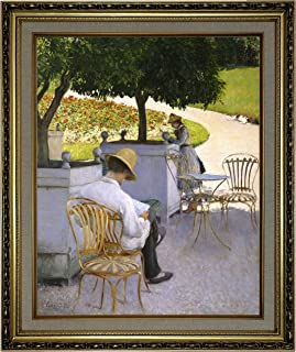 Historic Art Gallery The The Orange Trees 1878 by Gustave Caillebotte Framed Canvas Print, Size 16x20, Gold