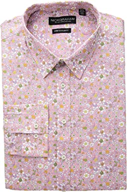 Floral Print Stretch Dress Shirt